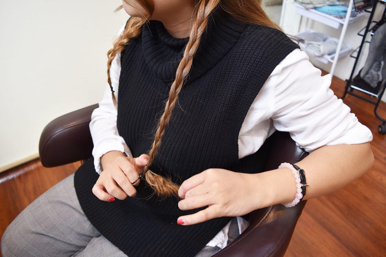 編み込みパーティーヘア-やり方12