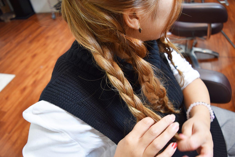 編み込みパーティーヘア-やり方14