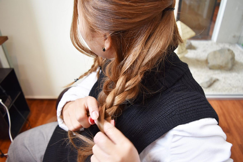 編み込みパーティーヘア-やり方16
