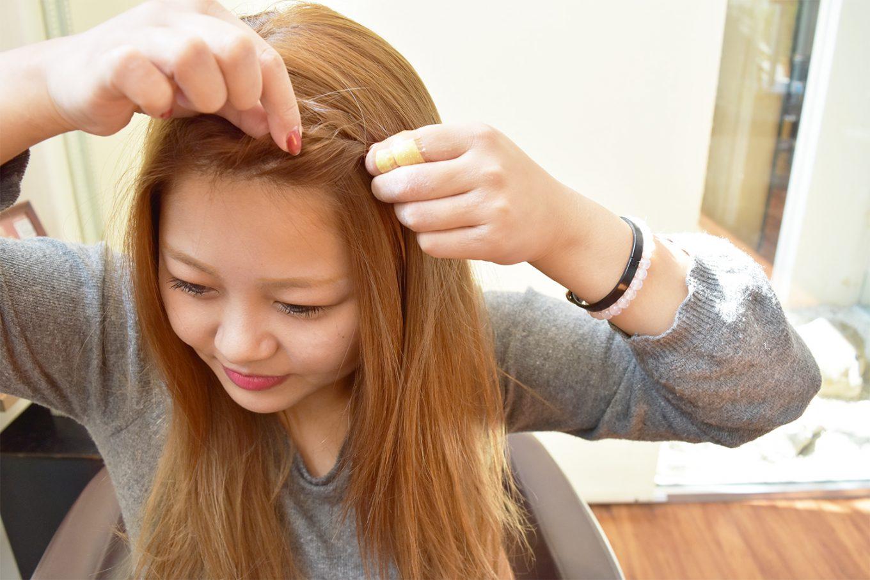 可愛いねじり前髪-やり方09