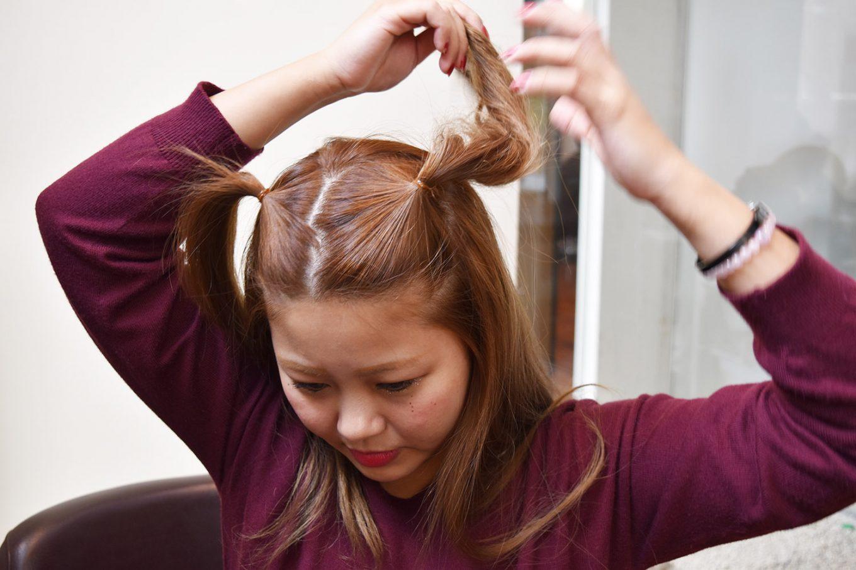 簡単つのヘアー-やり方06