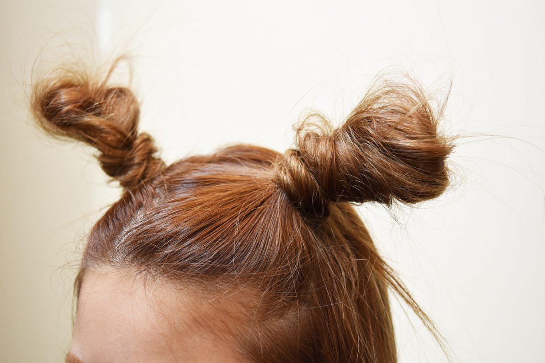 簡単つのヘアー-やり方10