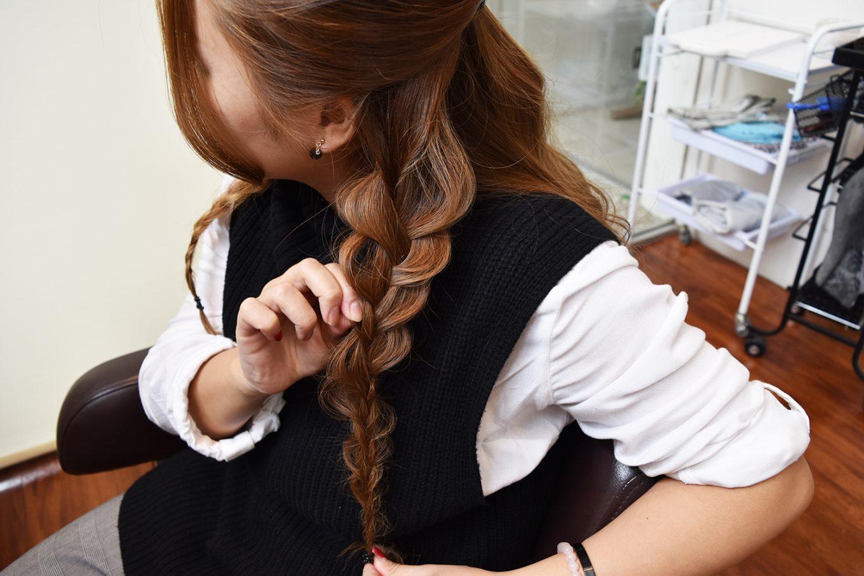 編み込みパーティーヘア-やり方13